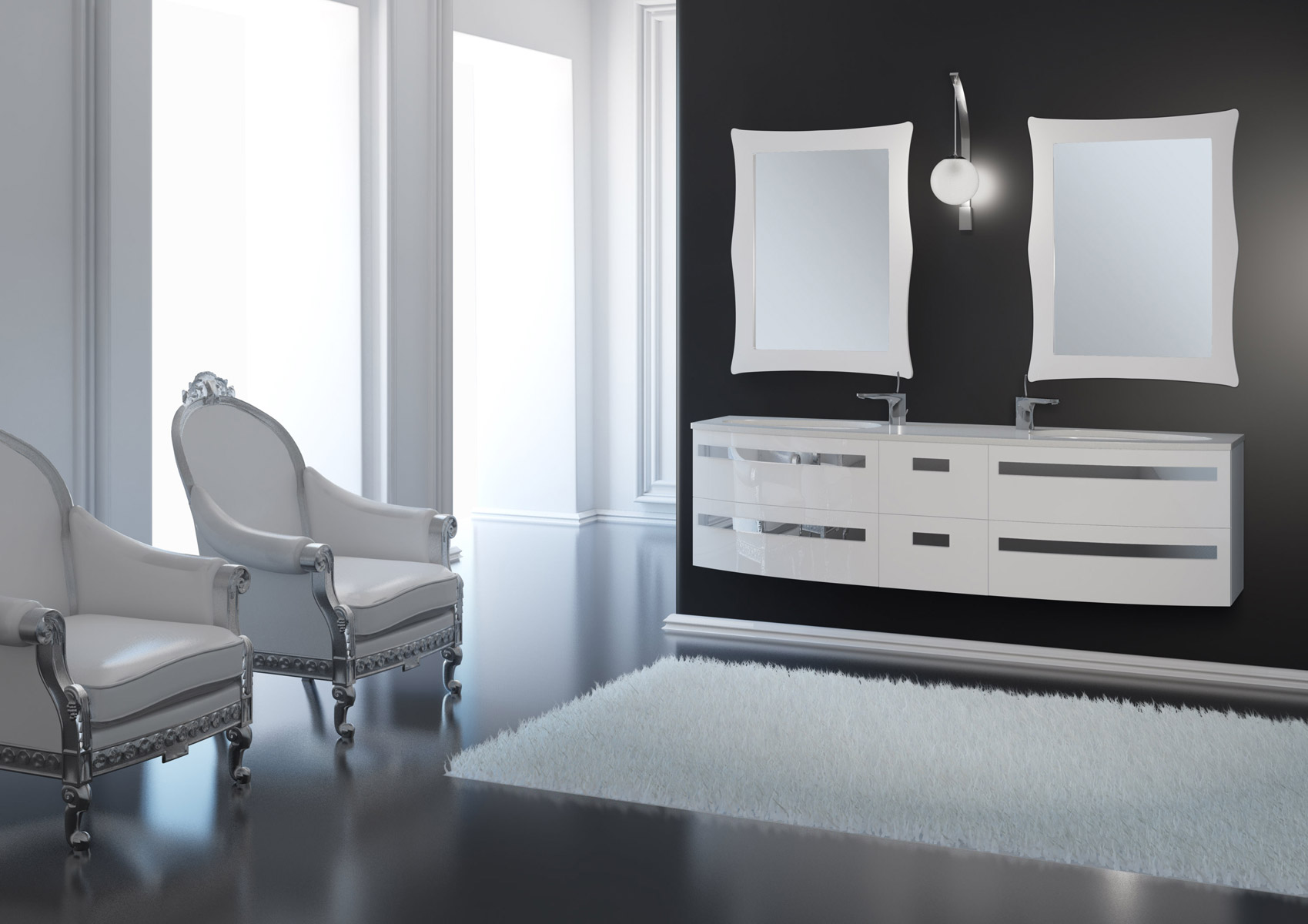 Arredo bagno design duebi italia for Servizi bagno