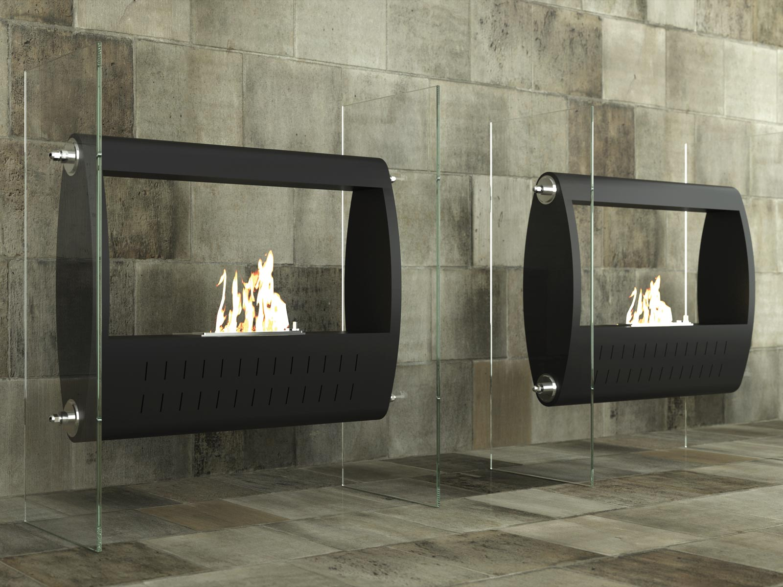 fireplaces hearth fireplace sided modern cladding single inbuilt option insert melbourne with stuv rust oblica x designer
