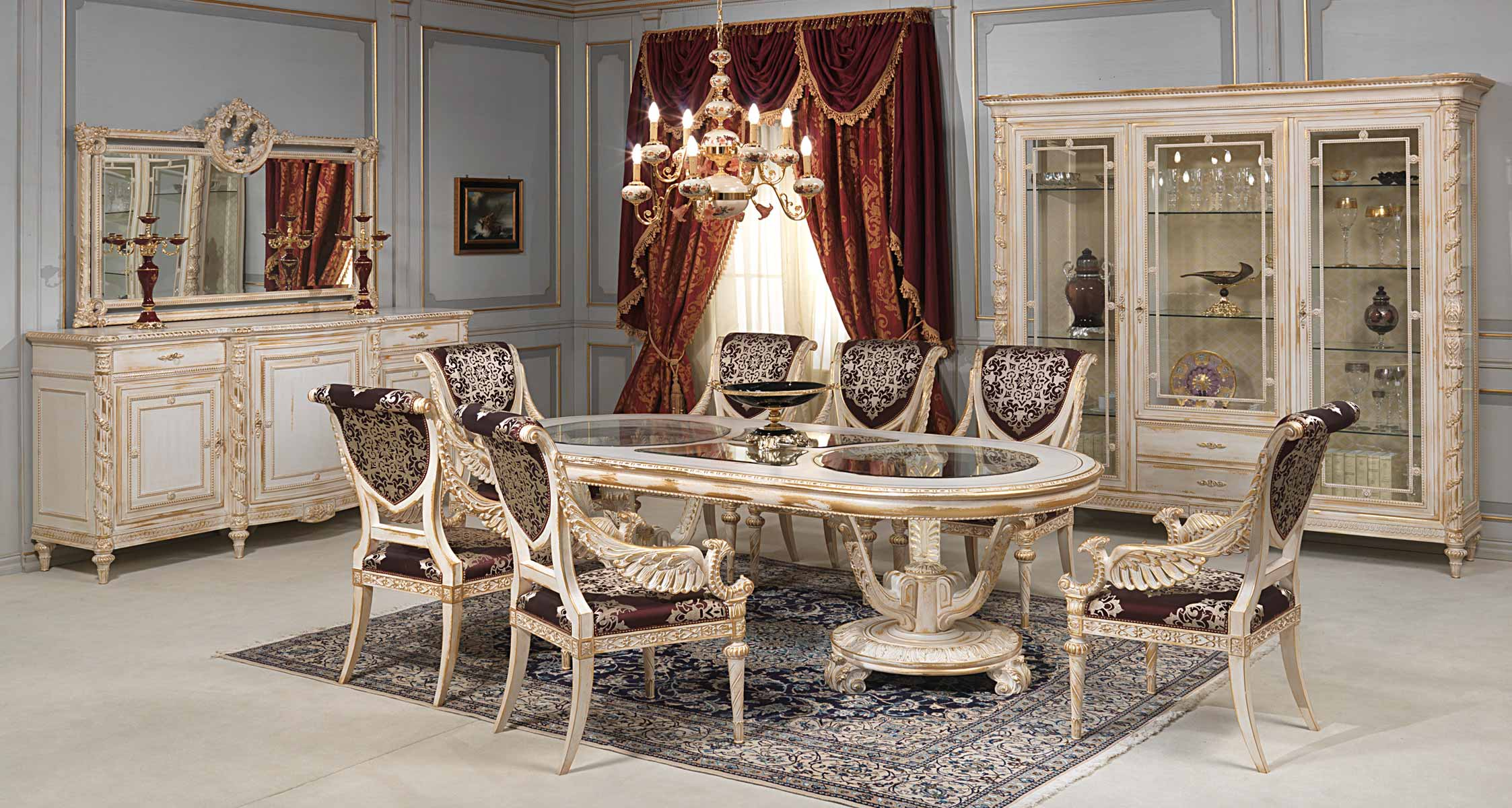 Exceptional Louis XVI Style White And Gold